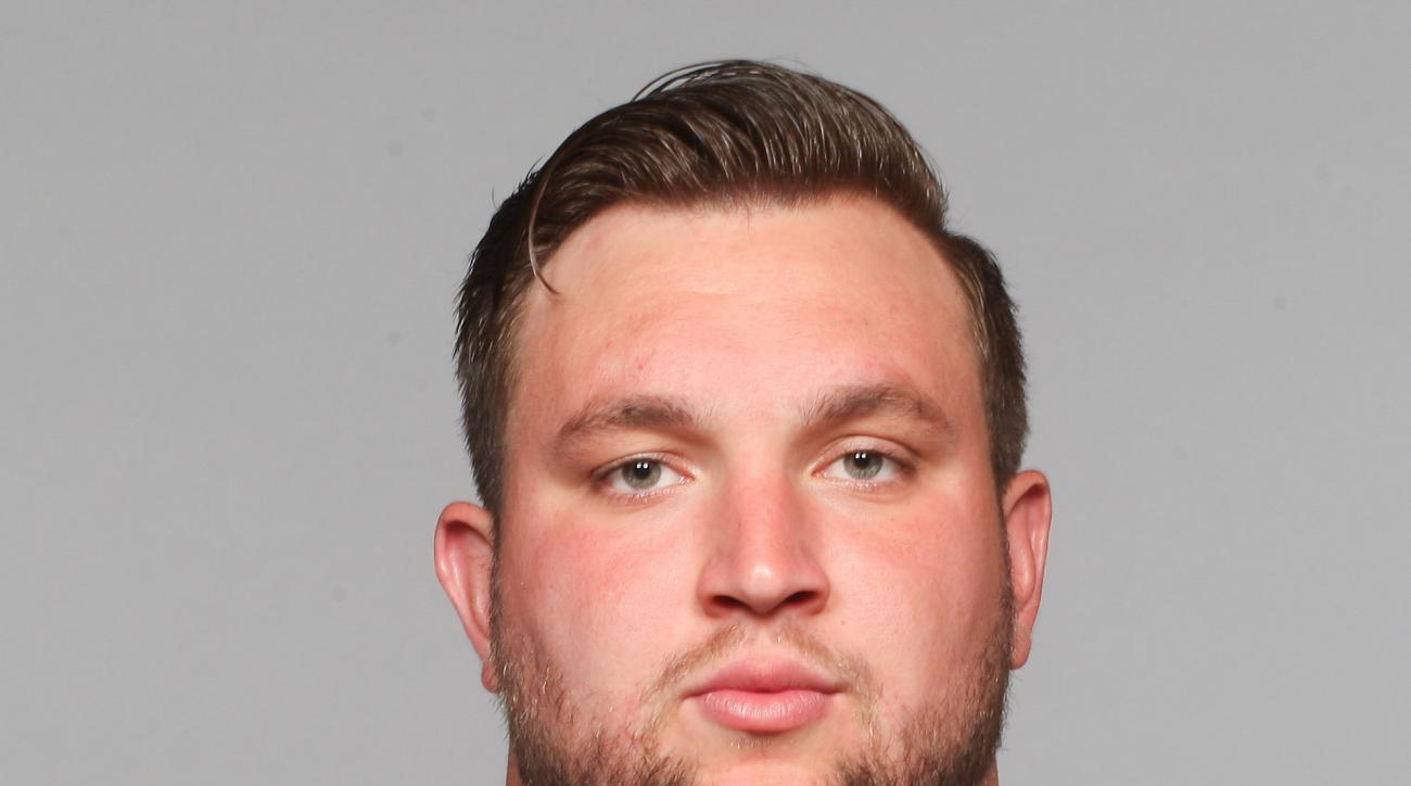 This is a 2015 photo of Ryan Seymour of the Cleveland Browns NFL football team. The Browns backup center has been suspended four games by the NFL for a banned substance. Seymour played in 11 games and started three last season at center after Alex Mack br