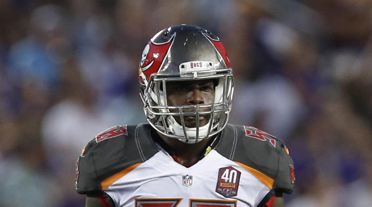 FILE - In this Aug. 15, 2015, file photo, Tampa Bay Buccaneers outside linebacker Kwon Alexander (58) plays against the Minnesota Vikings during the second half of a preseason NFL football game at TCF Bank Stadium in Minneapolis. Alexander has done more t