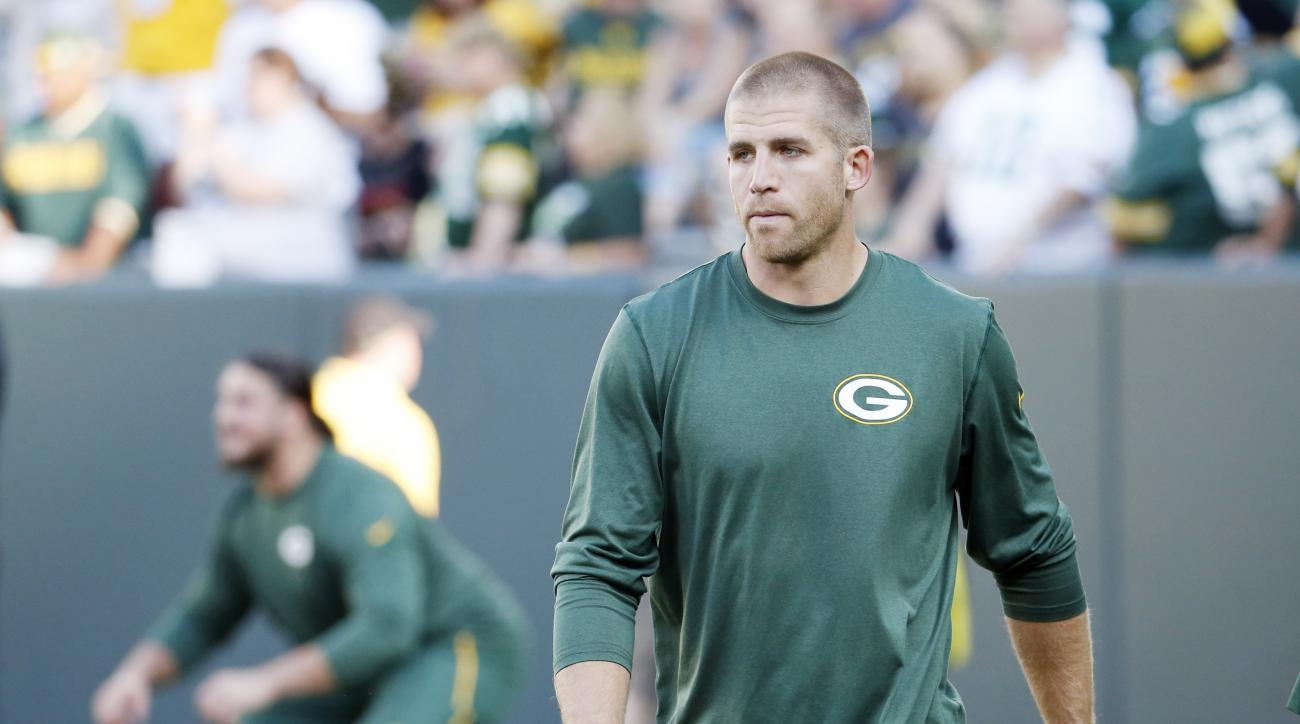 FILE - In this Sept. 3, 2015, file photo, Green Bay Packers' Jordy Nelson watches before a preseason NFL football game against the New Orleans Saints in Green Bay, Wis. As the 2015 season kicks off, several teams didn't survive the preseason too well, and