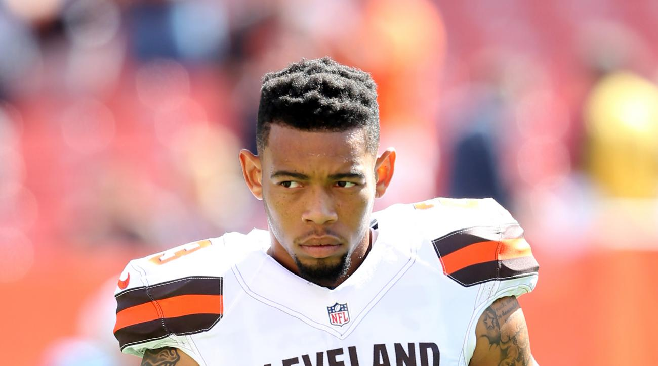 FILE - In this Sept. 20, 2015, file photo, Cleveland Browns cornerback Joe Haden (23) looks on during an NFL football game against the Tennessee Titans in Cleveland. The NFL has asked the Browns why Pro Bowl cornerback Joe Haden was inactive for Sunday's
