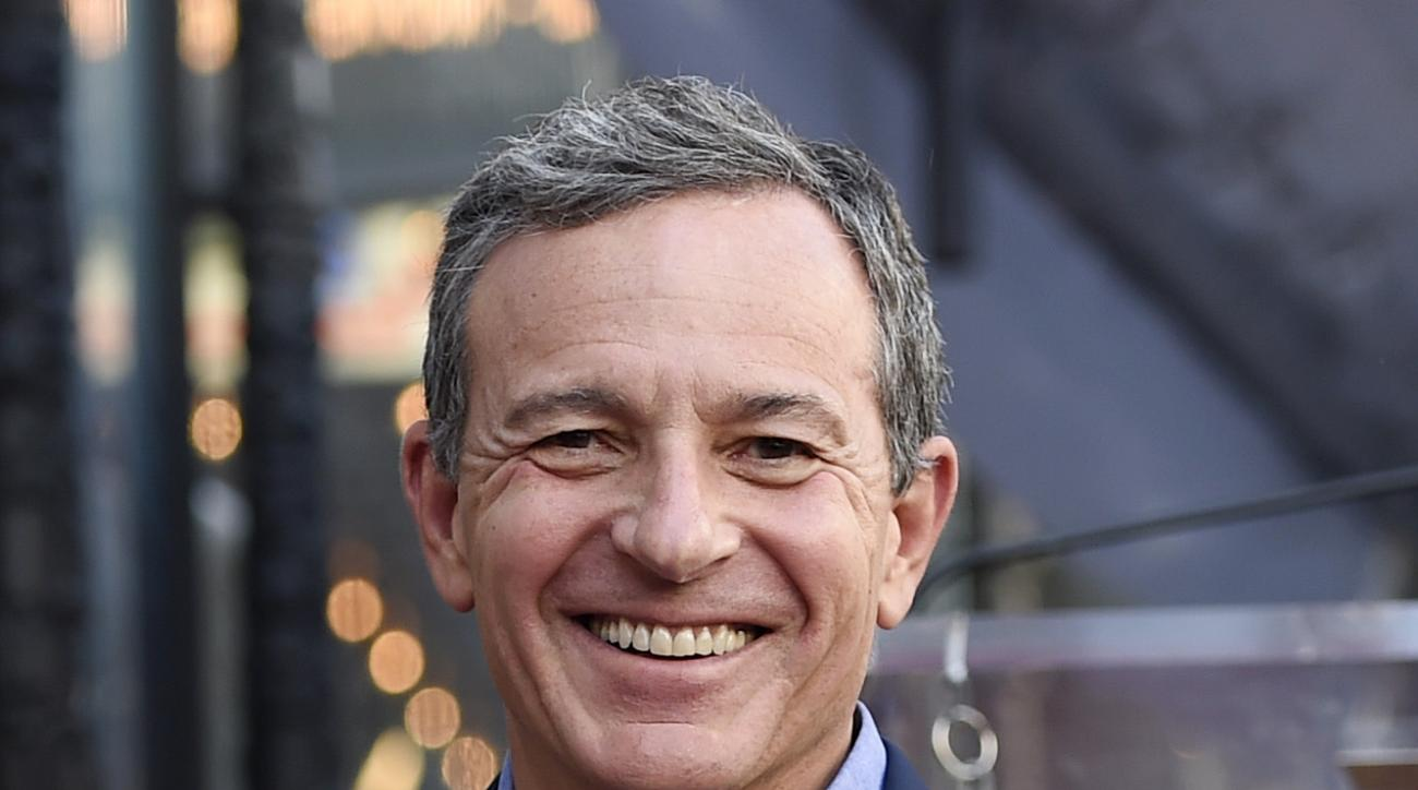 FILE - In this Oct. 12, 2015, file photo, Bob Iger, chairman and CEO of The Walt Disney Company, smiles in Los Angeles. Disney CEO Bob Iger has agreed to lead the effort to build a stadium for the Oakland Raiders and San Diego Chargers in the Los Angeles