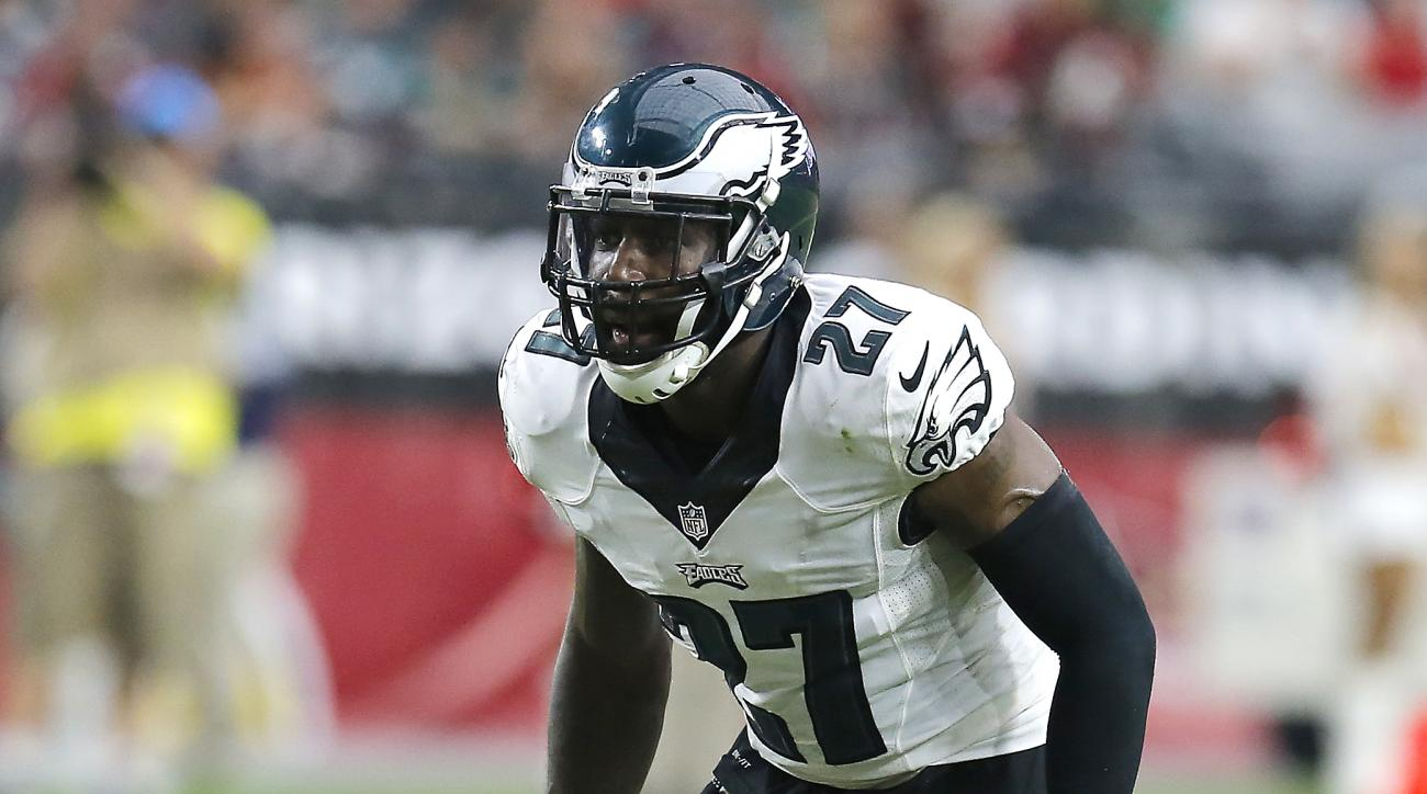 Philadelphia Eagles free safety Malcolm Jenkins (27) during the first quarter of an NFL football game against the Arizona Cardinals, Sunday, Oct. 26, 2014 in Glendale, Ariz. (AP Photo/Rick Scuteri)