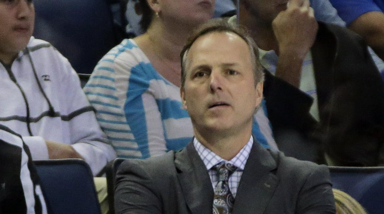 Tampa Bay Lightning head coach Jon Cooper during the first period of an NHL hockey game against the Anaheim Ducks Saturday, Nov. 21, 2015, in Tampa, Fla. (AP Photo/Chris O'Meara)
