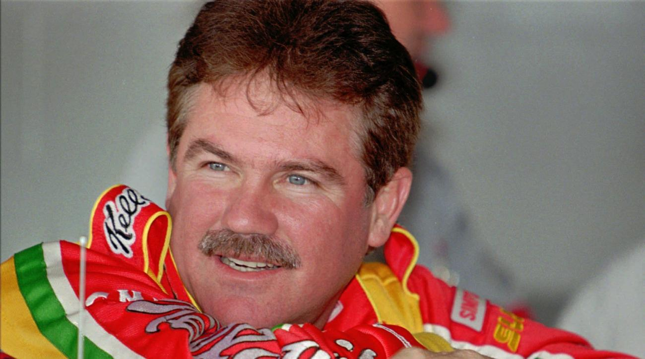FILE - In this Feb. 12, 1997, file photo, two-time Winston Cup Champion Terry Labonte leans on the top of his Chevrolet racer in the garage area after practice for the Daytona 500 auto race, in Daytona Beach, Fla. The distinction of being a hall of famer