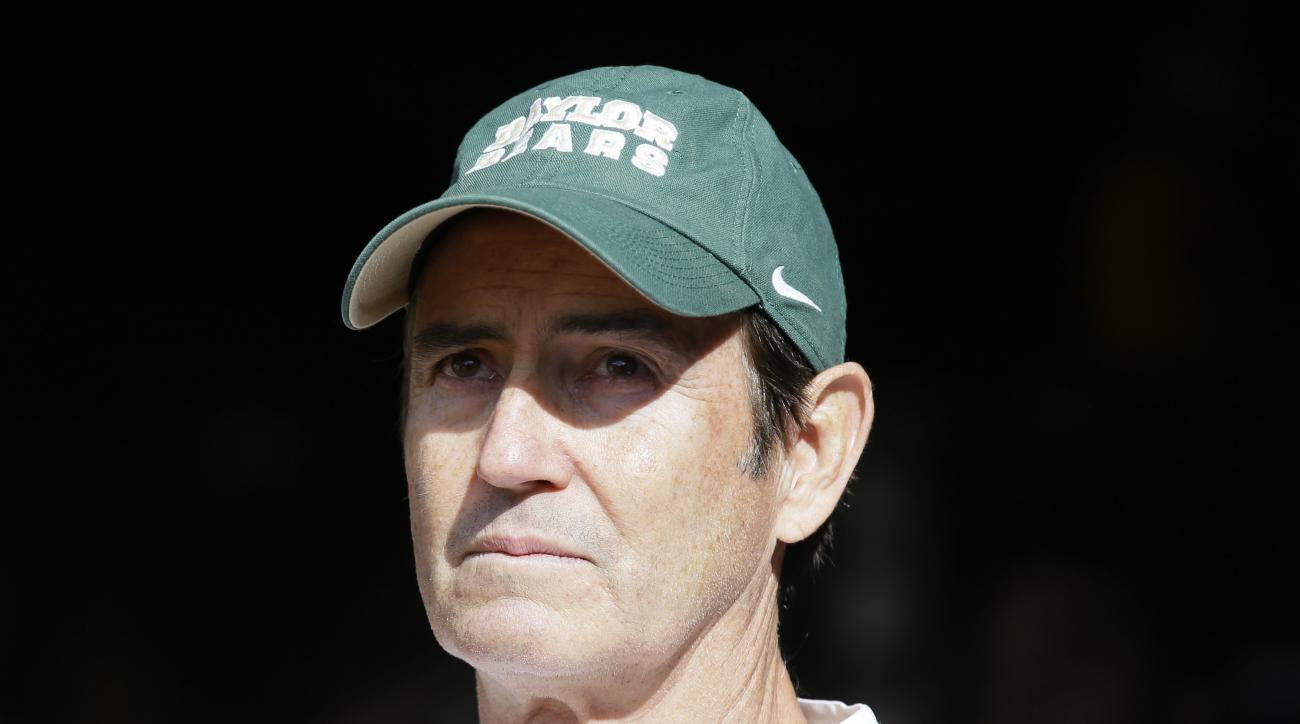 Baylor head coach Art Briles stands in the tunnel before an NCAA college football game against Texas Saturday, Dec. 5, 2015, in Waco, Texas. (AP Photo/LM Otero)