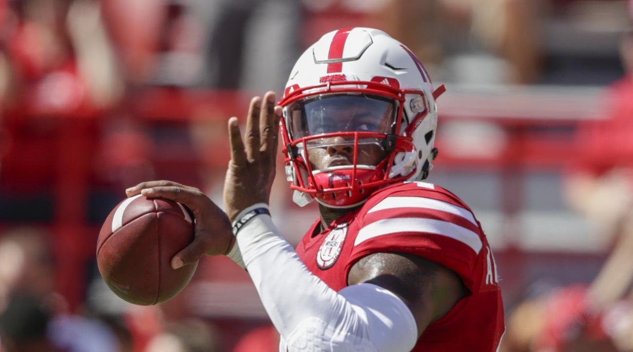 Nebraska quarterback Tommy Armstrong Jr. (4) throws before an NCAA college football game against Oregon in Lincoln, Neb., Saturday, Sept. 17, 2016. (AP Photo/Nati Harnik)