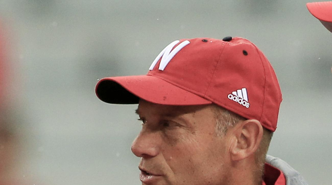 FILE - In this Sept. 3, 2016, file photo, Nebraska head coach Mike Riley watches from the sideline before an NCAA college football game in Lincoln, Neb. Clearly, No. 2 Ohio State and No. 4 Michigan have been the class of the Big Ten so far. No. 8 Wisconsi