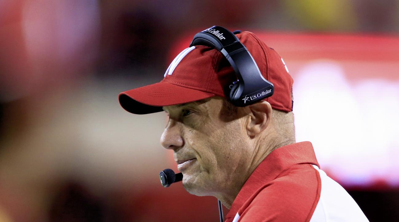 FILE - In this Sept. 3, 2016, file photo, Nebraska coach Mike Riley follows the second half of the team's NCAA college football game against Fresno State in Lincoln, Neb. The close losses in 2015 are close wins this year, and theyre playing with the confi