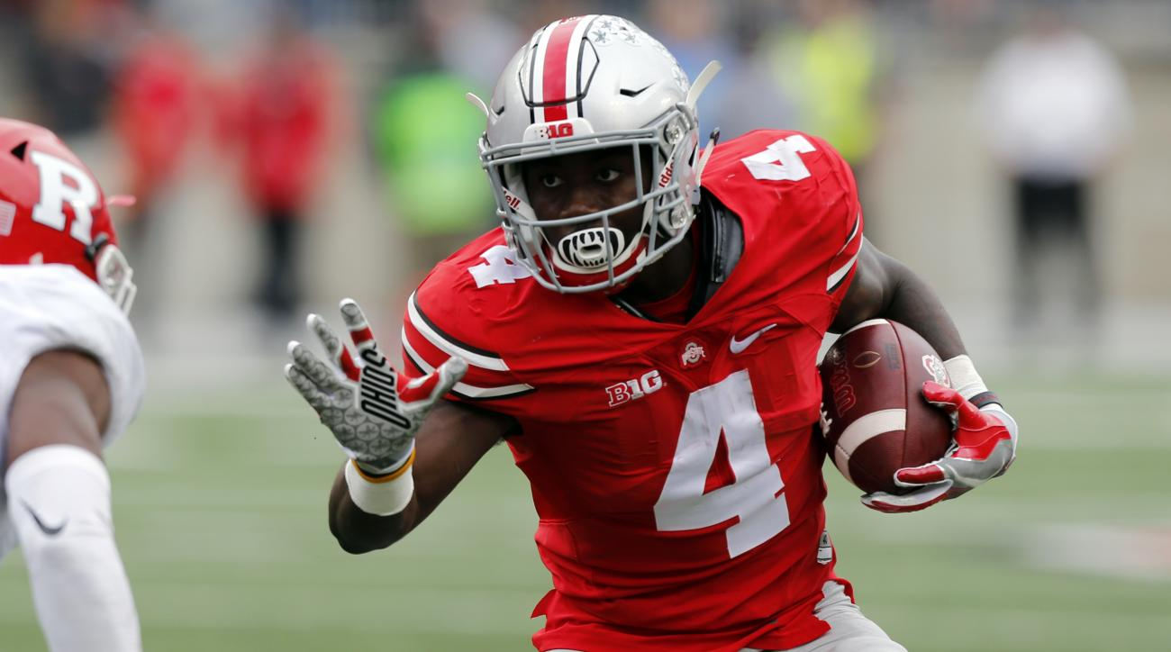 FILE - In this Oct. 1, 2016, file photo, Ohio State running back Curtis Samuel plays against Rutgers during an NCAA college football game in Columbus, Ohio. Ohio State considers last weeks stunning upset by Penn State an aberration, and recent history sho