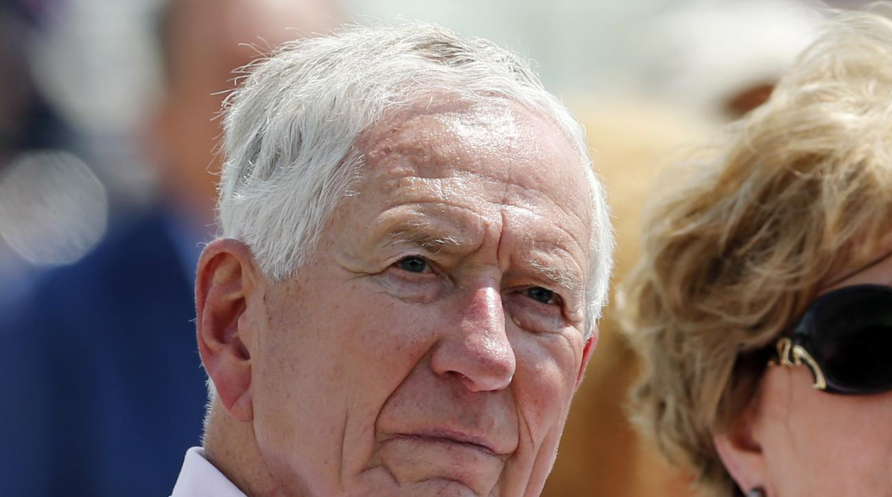 FILE - In this file photo made Sunday, July 26, 2015, former Houston Astros owner Drayton McLane, Jr., listens at the National Baseball Hall of Fame in Cooperstown, N.Y. McLane, the billionaire businessman whose name adorns the Baylor University football