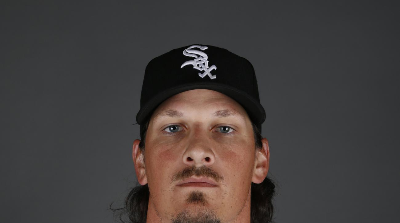 FILE - This is a 2015 file photo showing Jeff Samardzija of the Chicago White Sox baseball team. Free agent Jeff Samardzija and the Giants have finalized a $90 million, five-year contract, giving San Francisco a top-tier starter to complement ace Madison