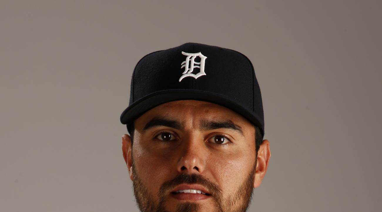 FILE -This Feb. 28, 2015 file photo shows Joakim Soria of the Detroit Tigers baseball team. The Royals finalized a $25 million, three-year deal with Soria on Thursday, Dec. 10, 2015, reuniting the former All-Star reliever with the club where he spent his