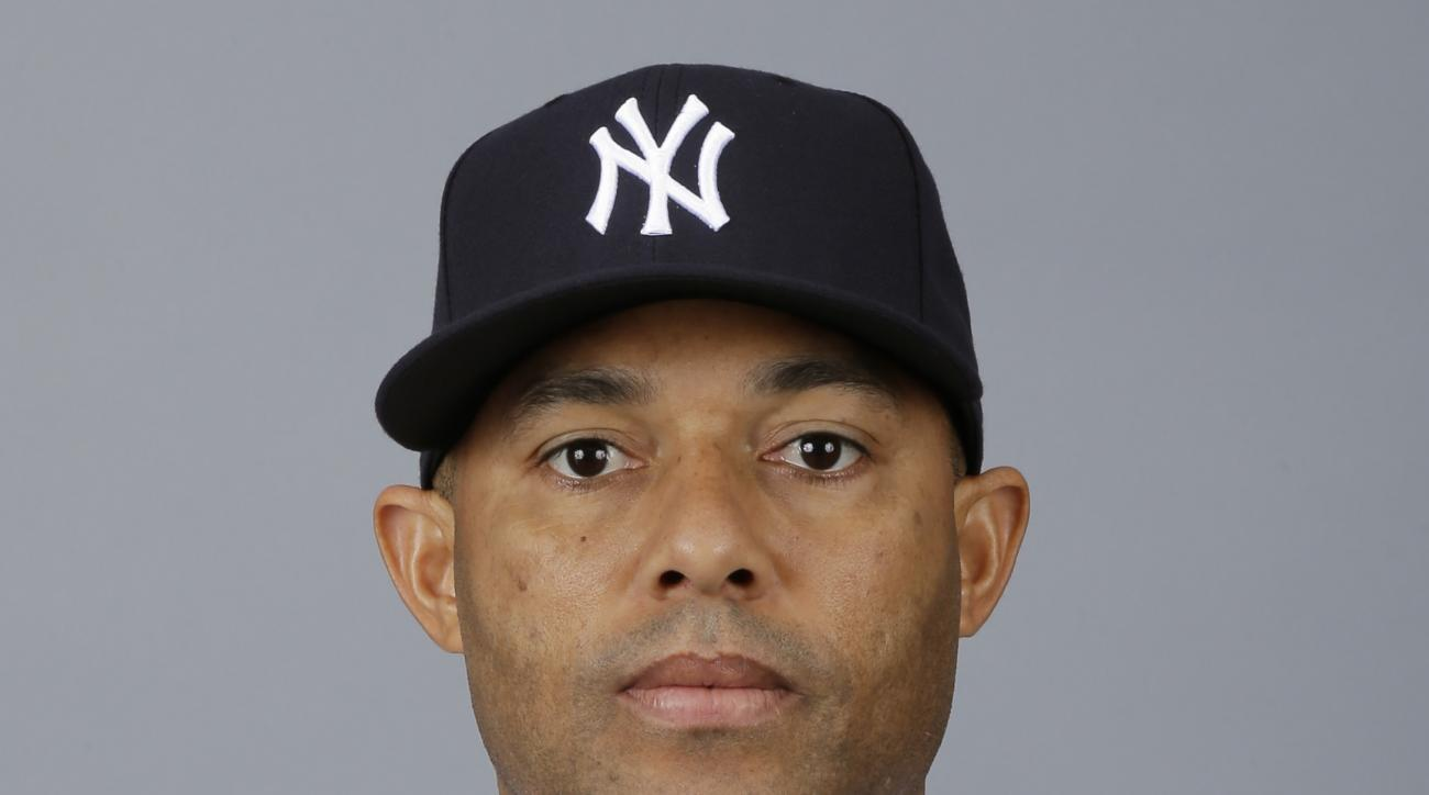 FILE - This is a 2013, file photo showing Mariano Rivera of the New York Yankees baseball team. The Yankees will dedicate a plaque for retired relief pitcher Mariano Rivera in Monument Park on Aug. 14 before a game against Tampa Bay. Rivera, who retired a