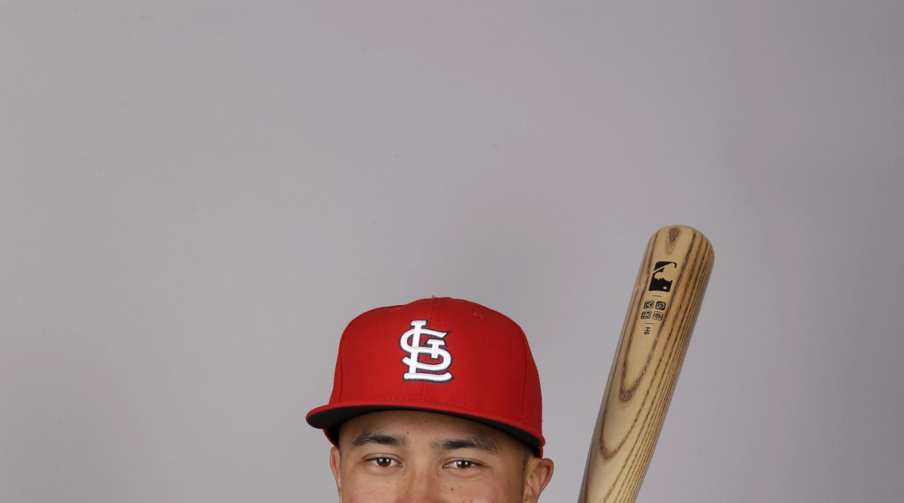 This is a 2016 photo of Kolten Wong of the St. Louis Cardinals baseball team.  This image reflects the Cardinals active roster as of Thursday, Feb. 25, 2016, when this image was taken. (AP Photo/Jeff Roberson)