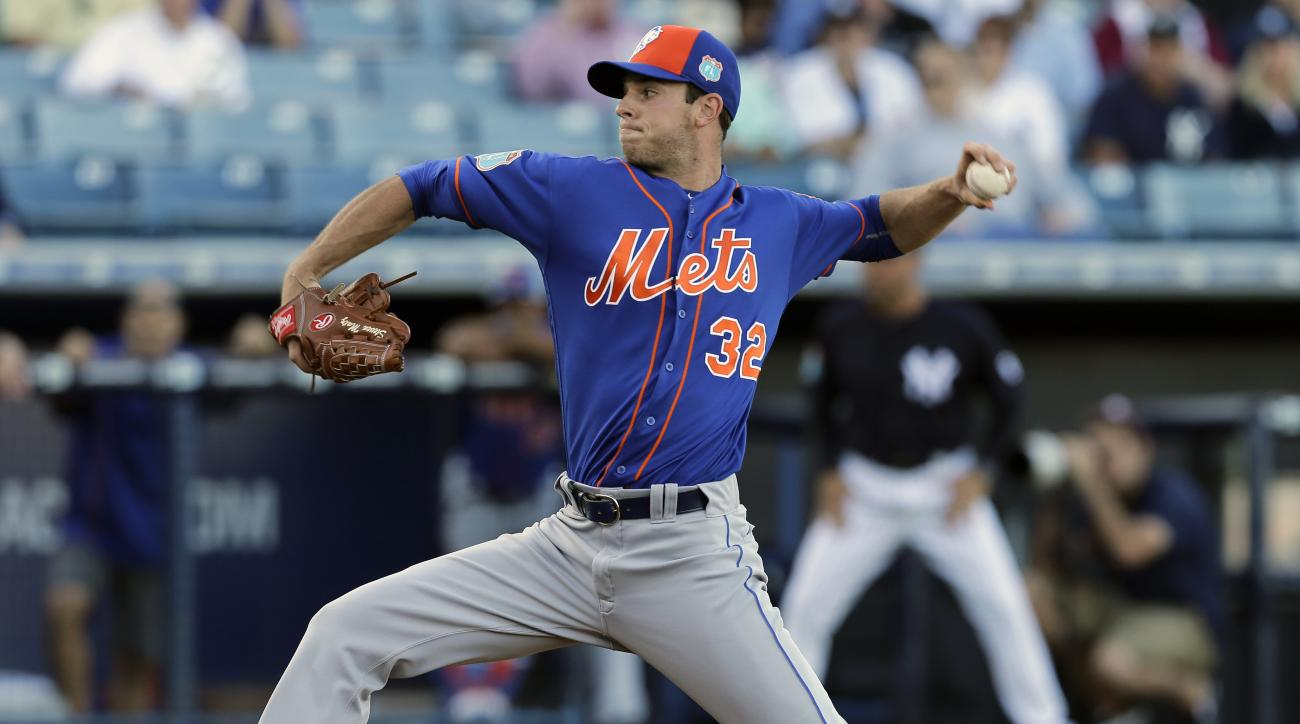 FILE - In this March 22, 2016, file photo, New York Mets' Steven Matz pitches against the New York Yankees during a spring training baseball game, in Tampa, Fla. When it comes to the next generation of baseball stars, another wave of shortstops is forming