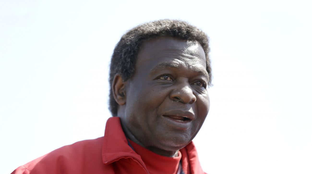 FILE - In this March 10, 2013, file photo, Former St. Louis Cardinals great Lou Brock attends an exhibition spring training baseball game between the  Cardinals and the New York Mets in Jupiter, Fla. Brock, whose left leg was amputated just below the knee