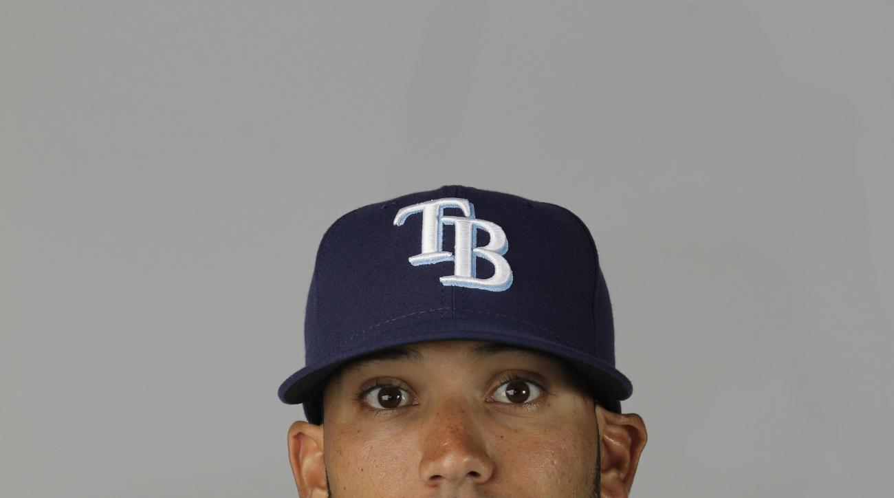 This is a 2012 photo of Matt Bush of the Tampa Bay Rays baseball team. This image reflects the Rays' active roster as of Wednesday, Feb. 29, 2012 when this image was taken. (AP Photo/David Goldman)