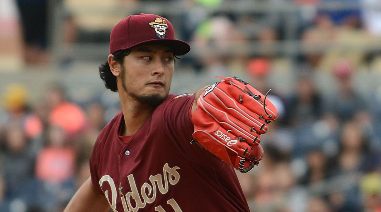 Texas Rangers pitcher Yu Darvish throws during the first inning of a Frisco Roughriders baseball game against the Midland Rockhounds Tuesday morning, May 17, 2016 at Security Bank Ballpark in Midland, Texas. Darvish is pitching for Double-A Frisco and Tri