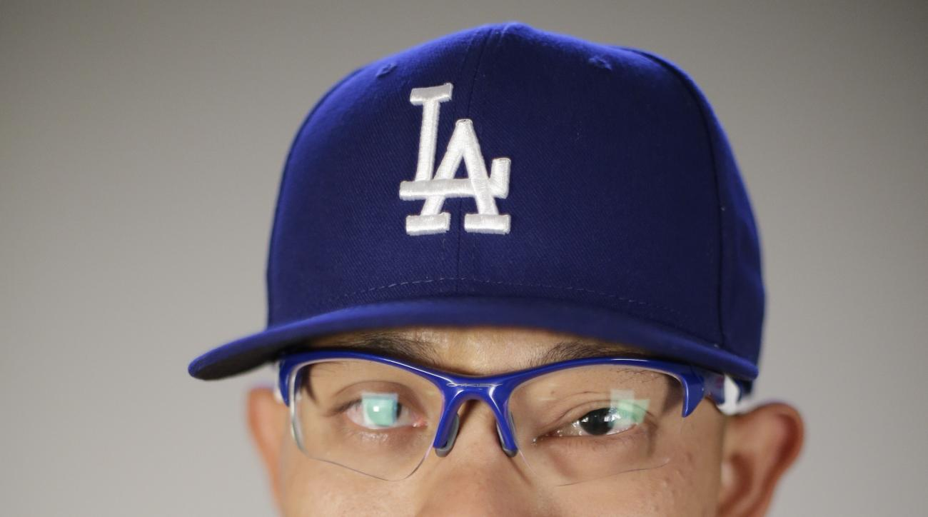 This is a 2016 photo of Julio Urias of the Los Angeles Dodgers baseball team. This image reflects the Los Angeles Dodgers active roster as of Saturday, Feb. 27, 2016, when this image was taken. (AP Photo/Chris Carlson)