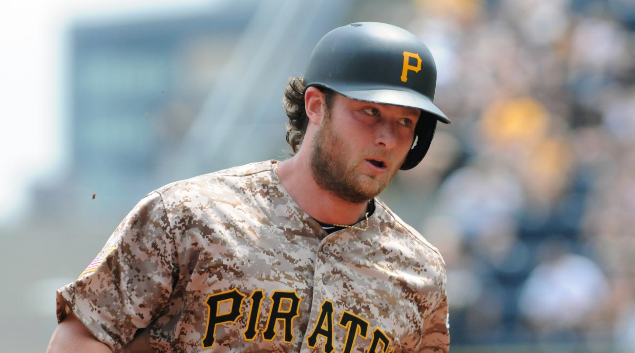 Pittsburgh Pirates pitcher Gerrit Cole rounds third base after hitting a three-run home run against the Arizona Diamondbacks during a baseball game Thursday, May 26, 2016, in Pittsburgh. (AP Photo/John Heller)