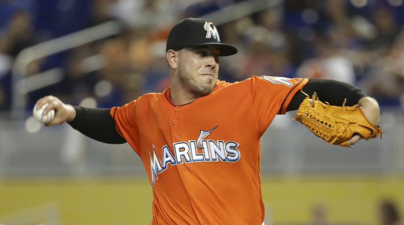 wbbMiami Marlins starting pitcher Jose Fernandez throws during the first inning of a baseball game against the New York Mets, Sunday, June 5, 2016, in Miami. (AP Photo/Lynne Sladky)