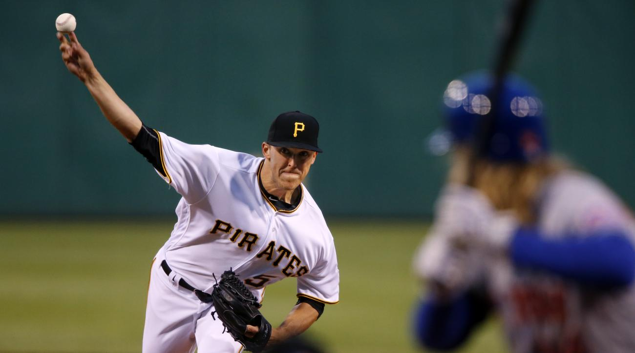 Pittsburgh Pirates starting pitcher Jameson Taillon delivers during the fourth inning of a baseball game against the New York Mets in Pittsburgh, Wednesday, June 8, 2016. (AP Photo/Gene J. Puskar)
