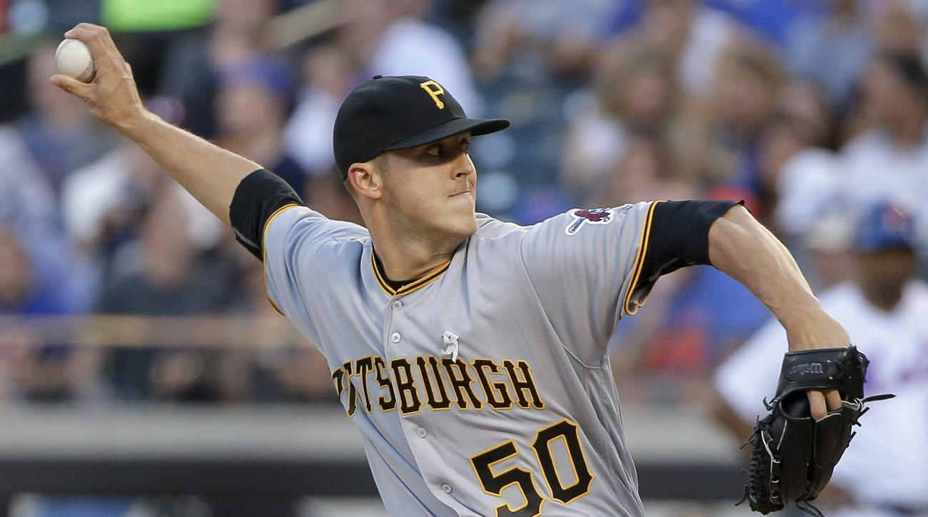 Pittsburgh Pirates pitcher Jameson Taillon (50) delivers against the New York Mets during the first inning of a baseball game, Tuesday, June 14, 2016, in New York. (AP Photo/Julie Jacobson)