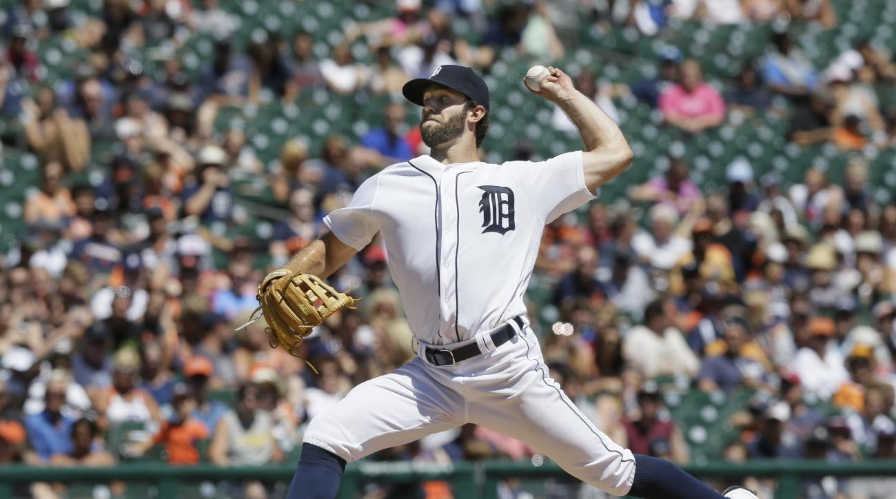 Detroit Tigers pitcher Daniel Norris throws during the fourth inning of a baseball game against the Miami Marlins, Wednesday, June 29, 2016 in Detroit. (AP Photo/Carlos Osorio)
