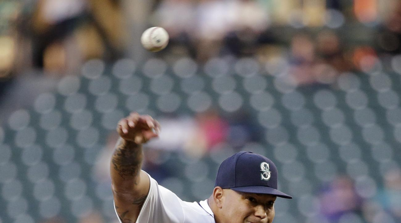 Seattle Mariners starting pitcher Taijuan Walker throws to a Baltimore Orioles batter during the fifth inning of a baseball game Thursday, June 30, 2016, in Seattle. (AP Photo/Elaine Thompson)