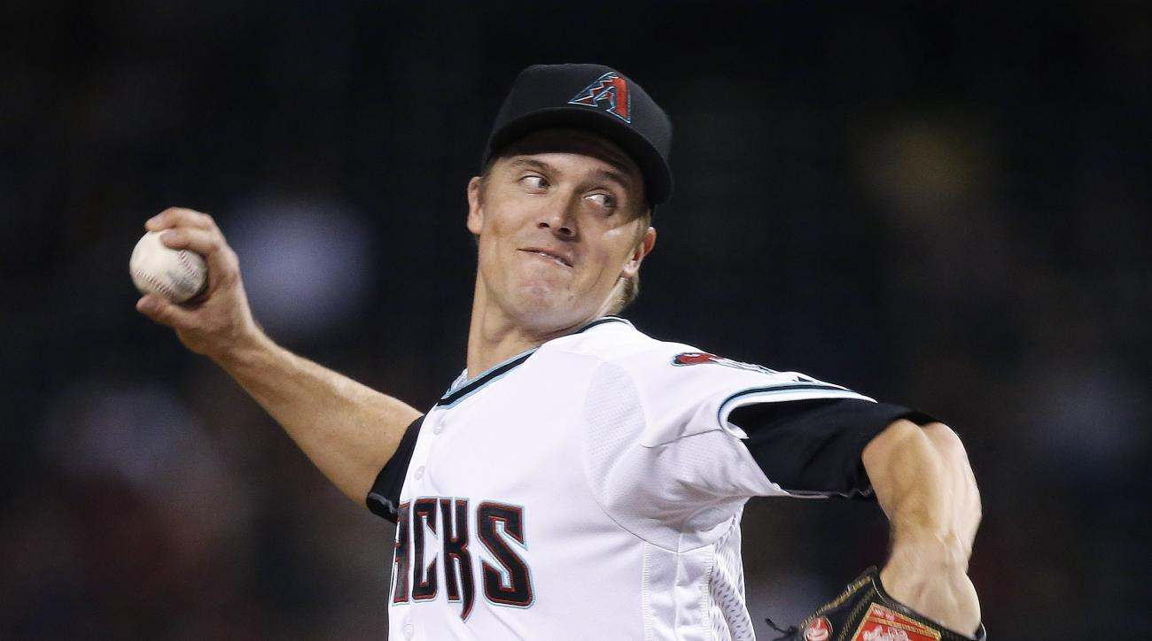 FILE - In this June 7, 2016, file photo, Arizona Diamondbacks' Zack Greinke throws a pitch against the Tampa Bay Rays during the second inning of a baseball game in Phoenix. Greinke is making slow progress in his return from injury, too slow for his likin