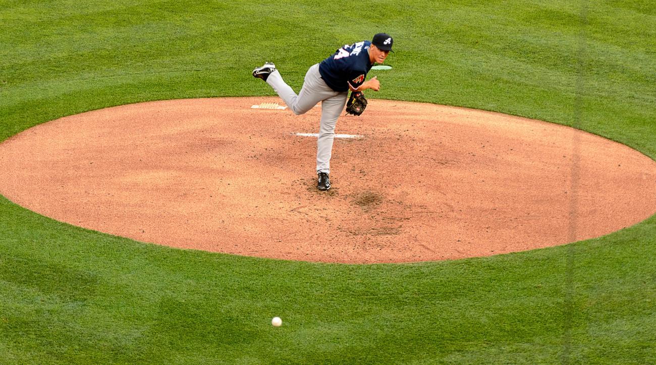 Arizona Diamondbacks' Zack Greinke, playing for the Reno Aces, throws to a Salt Lake Bees batter during a baseball game Wednesday, Aug. 3, 2016, in Salt Lake City. (Trent Nelson/The Salt Lake Tribune via AP)