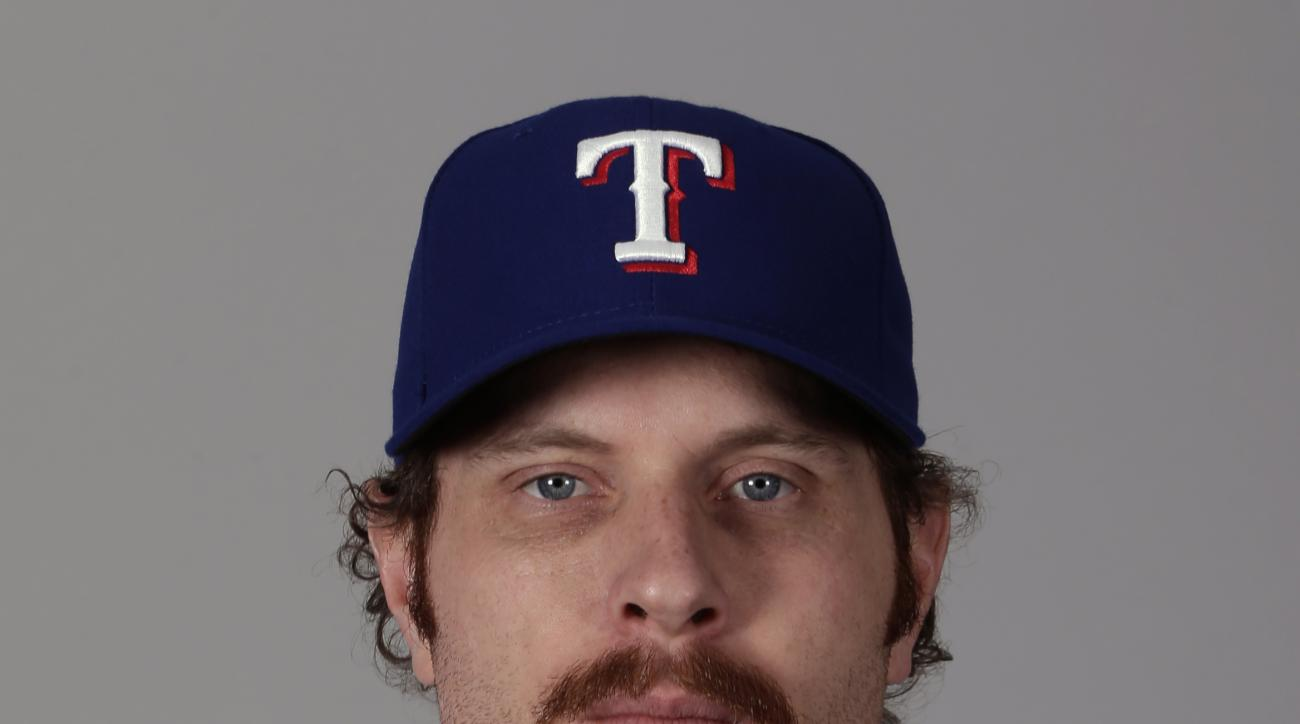 This is a 2016 photo of Josh Hamilton of the Texas Rangers baseball team. This image reflects the Texas Rangers active roster as of Sunday, Feb. 28, 2016, when this image was taken. (AP Photo/Charlie Riedel)