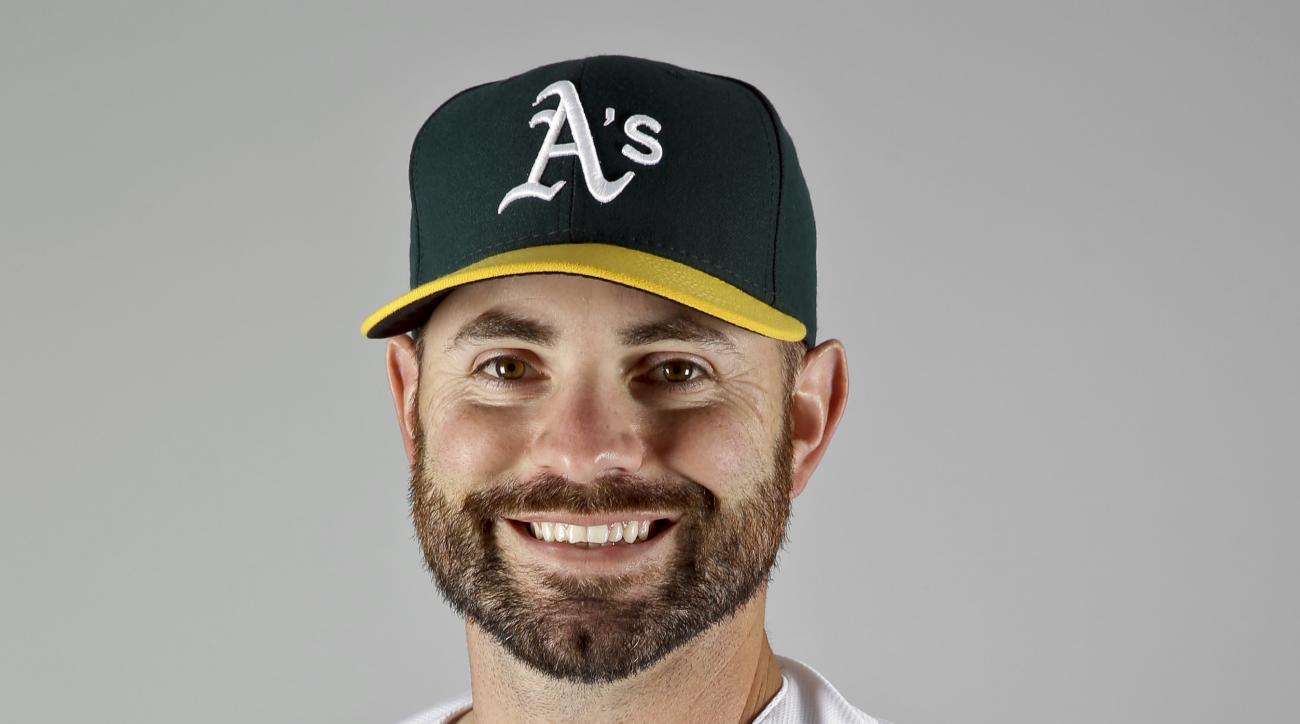 FILE - This is a 2016 file photo showing Marc Rzepczynski of the Oakland Athletics baseball team. The Washington Nationals have acquired left-handed reliever Marc Rzepczynski from the Athletics for minor league infielder Max Schrock. The A's also sent cas