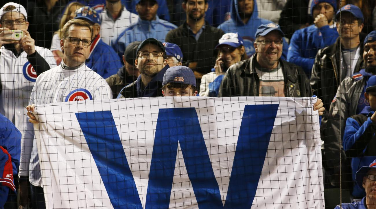 Chicago Cubs Fans celebrate after Game 6 of the National League baseball championship series against the Los Angeles Dodgers, Saturday, Oct. 22, 2016, in Chicago. The Cubs won 5-0 to win the series and advance to the World Series against the Cleveland Ind