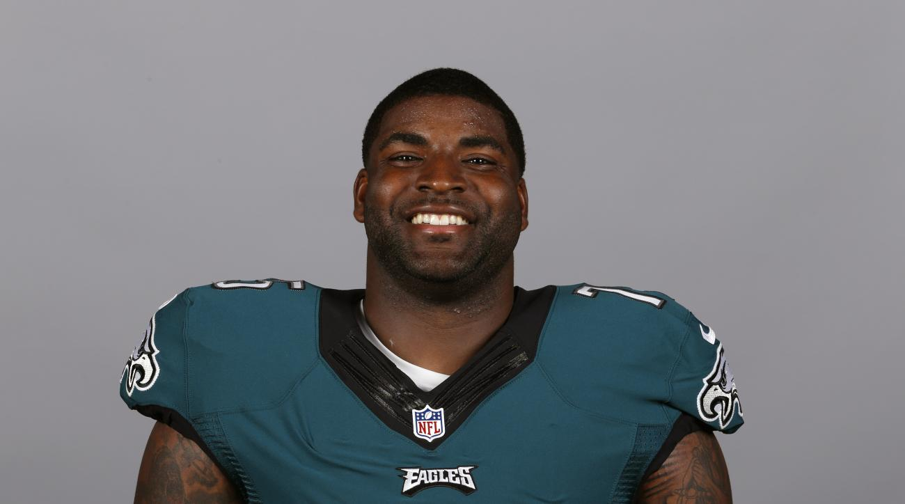 This is a 2015 photo of Vinny Curry of the Philadelphia Eagles NFL football team. This image reflects the Philadelphia Eagles active roster as of Monday, May 18, 2015 when this image was taken. (AP Photo)