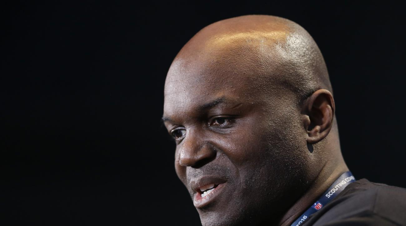 New York Jets head coach Todd Bowles speaks during a press conference at the NFL football scouting combine in Indianapolis, Wednesday, Feb. 24, 2016. (AP Photo/Michael Conroy)