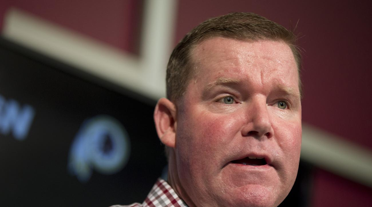 Washington Redskins general manager Scot McCloughan speaks during a news conference at Redskins Park in Ashburn, Va., Monday, April 25, 2016.    (AP Photo/Manuel Balce Ceneta)