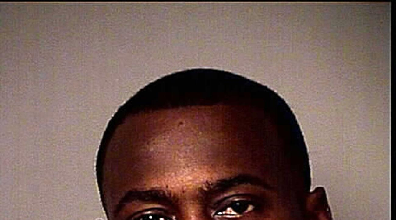 This photo released by the Osceola County Sheriff's Office shows Tarvaris Jackson. The former Seattle Seahawks quarterback  was arrested in central Florida after authorities say he pulled a gun on his wife. An Osceola County Sheriff's Office arrest report
