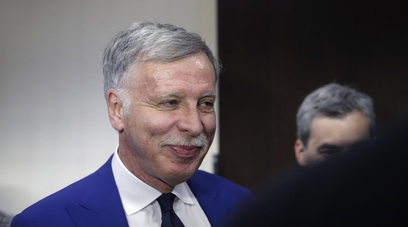 FILE - In this April 28, 2016 file photo, Los Angeles Rams owner Stan Kroenke attends a news conference in Los Angeles. Kroenke didn't find St. Louis to his liking for an NFL team, but he still sees business opportunity in the region. Howard Bend Developm