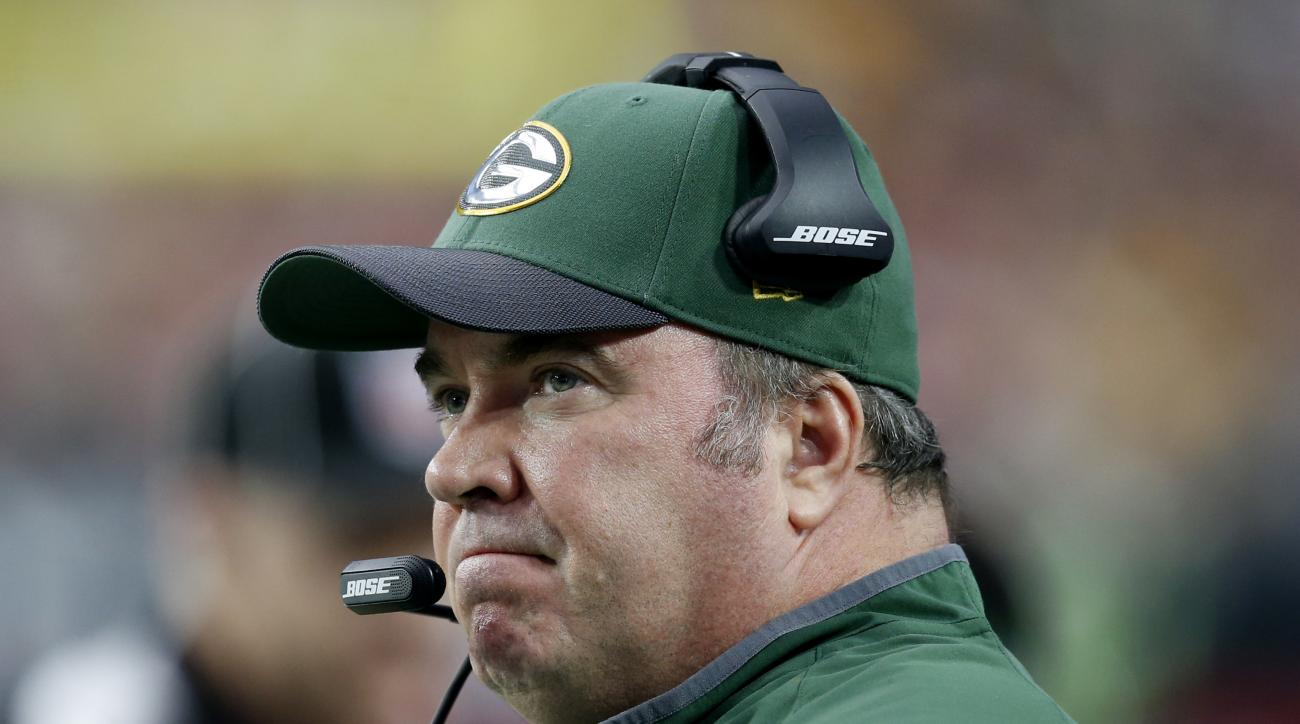 FILE - In this Dec. 27, 2015, file photo, Green Bay Packers head coach Mike McCarthy watches his team during the first half of an NFL football game against the Arizona Cardinals in Glendale, Ariz. McCarthy said Monday, July 25, 2016, quarterback Aaron Rod