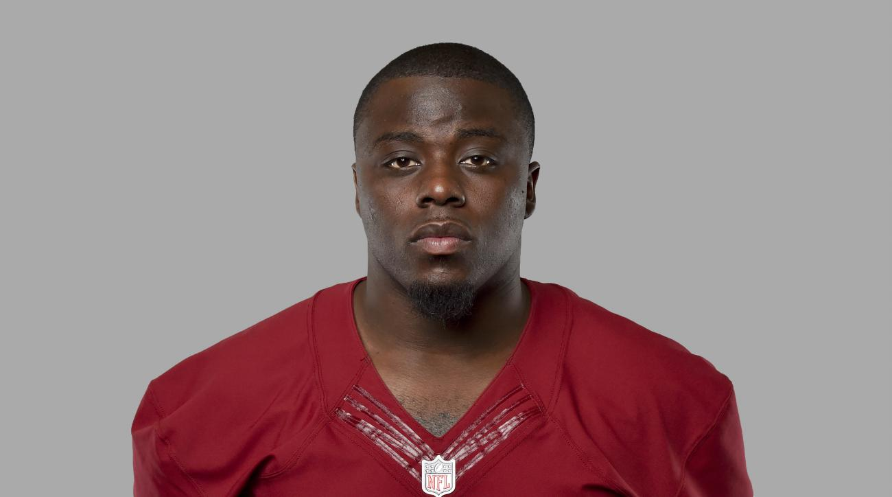 This is a 2016 photo of Steven Daniels of the Washington Redskins NFL football team.  A rookie linebacker, Daniels is out for the season with a torn labrum in his shoulder. Coach Jay Gruden said Daniels would have surgery to repair the injury. The team wo
