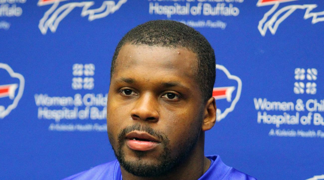 FILE - In this May 6, 2016, file photo, Buffalo Bills linebacker Reggie Ragland (59) speaks to the media during their NFL football team's rookie minicamp in Orchard Park, N.Y. First, Shaq Lawson. Now, Ragland. The Buffalo Bills defense lost another rookie