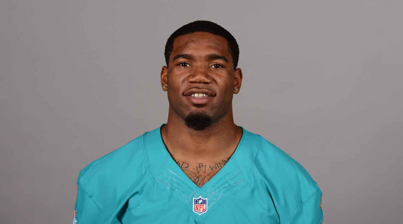 FILE - This is a 2016 file photo showing Xavien Howard of the Miami Dolphins NFL football team. Dolphins second-round draft pick Xavien Howard has joined practice after missing more than three weeks of training camp because of a knee injury, and the team