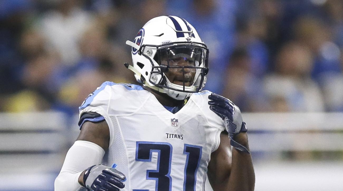 FILE -- In this Sept. 18, 2016 file photo, Tennessee Titans safety Kevin Byard plays against the Detroit Lions in an NFL football game in Detroit. Rotating defensive linemen or even outside linebackers to keep players fresh to rush the quarterback is noth