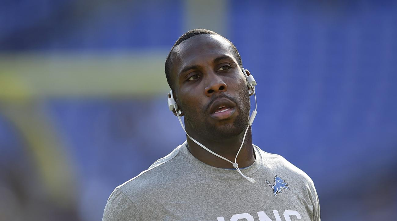 Detroit Lions wide receiver Anquan Boldin warms up before a preseason NFL football game against the Baltimore Ravens, Saturday, Aug. 27, 2016, in Baltimore. (AP Photo/Gail Burton)