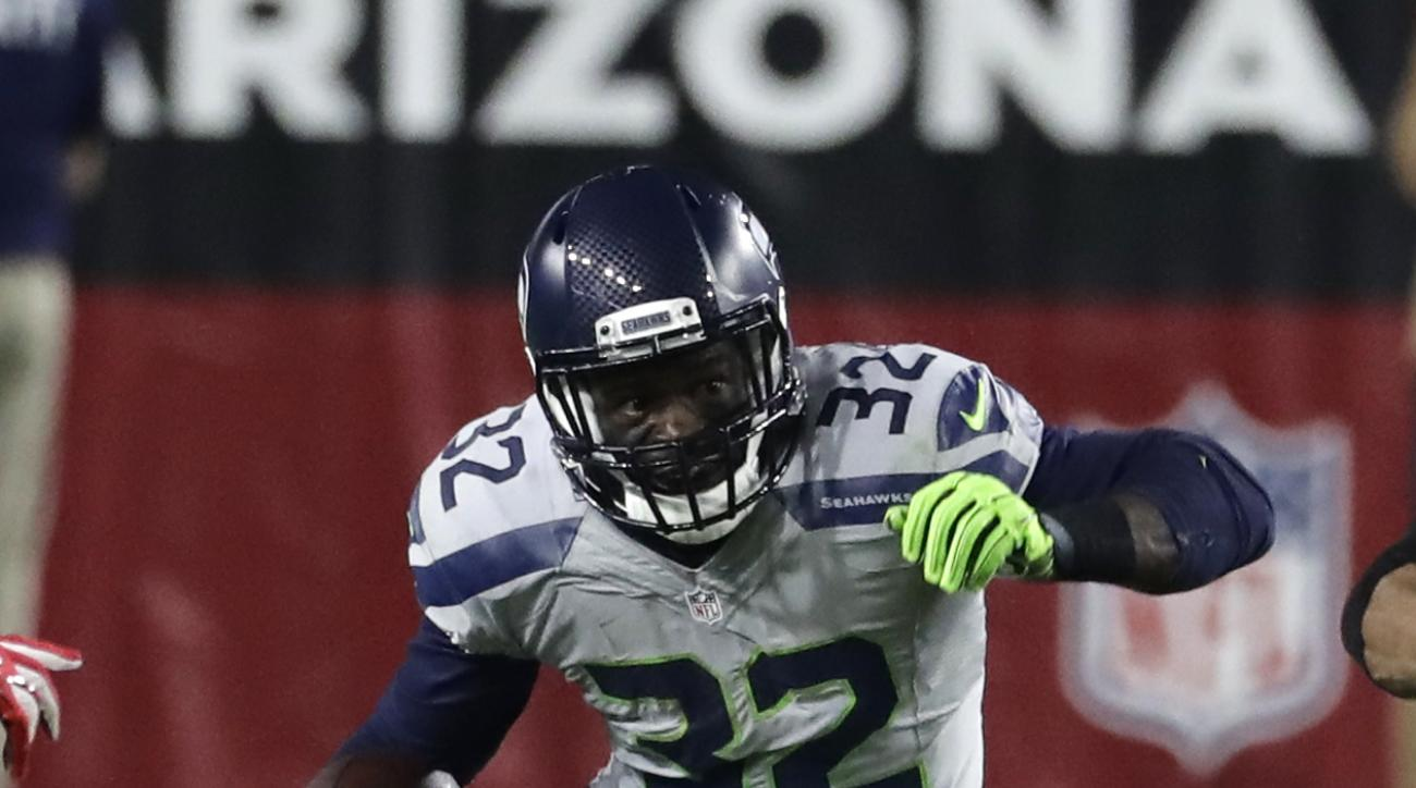 This Oct. 23, 2016 photo shows Seattle Seahawks running back Christine Michael (32) in the first half of an NFL football game against the Arizona Cardinals in Glendale, Ariz. The recently-acquired running back looks like hell finally get a chance to take