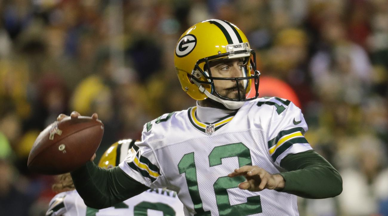 FILE - In a Sunday, Nov. 20, 2016 file photo, Green Bay Packers quarterback Aaron Rodgers (12) passes the ball during the first half of an NFL football game against the Washington Redskins in Landover, Md. Rodgers is confident the Green Bay Packers can sa