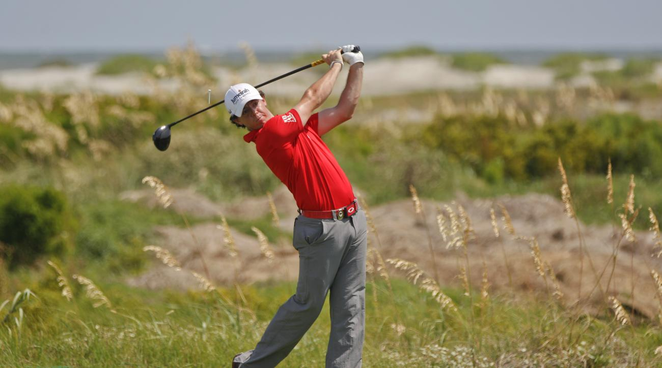 FILE - In this Aug. 12, 2012, file photo, Rory McIlroy of Northern Ireland hits from the sixth tee during the final round of the PGA Championship golf tournament on the Ocean Course of the Kiawah Island Golf Resort in Kiawah Island, S.C. The PGA Champions