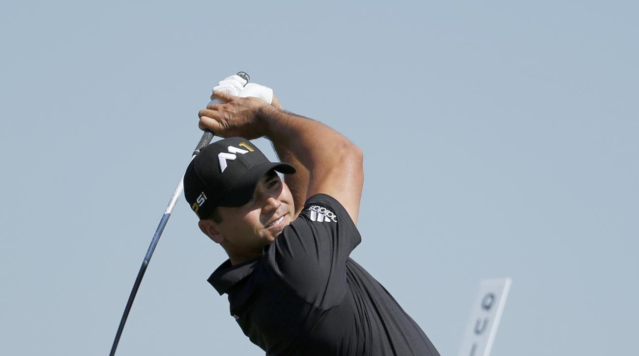 Jason Day, of Australia, watches his tee shot in the 10th hole during the first round of the BMW Championship golf tournament at Conway Farms Golf Club, Thursday, Sept. 17, 2015, in Lake Forest, Ill. (AP Photo/Charles Rex Arbogast)