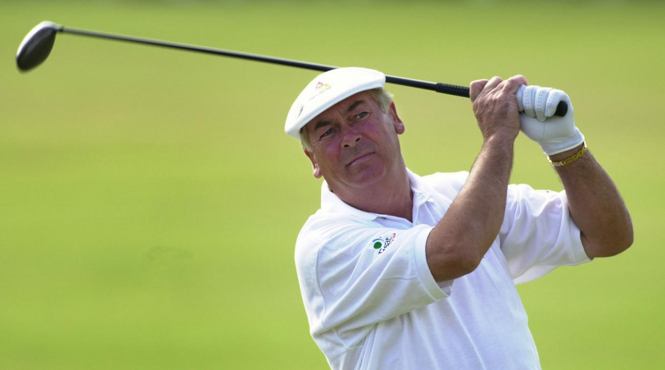 FILE - This is a July 20, 2000 file photo of Ireland's Christy O'Connor Jnr in action on the 2nd tee at the 2000 Open Golf Championship at St Andrews in Scotland. Christy O'Connor Jr., the Irish golfer who produced the shot of his career to help Europe wi